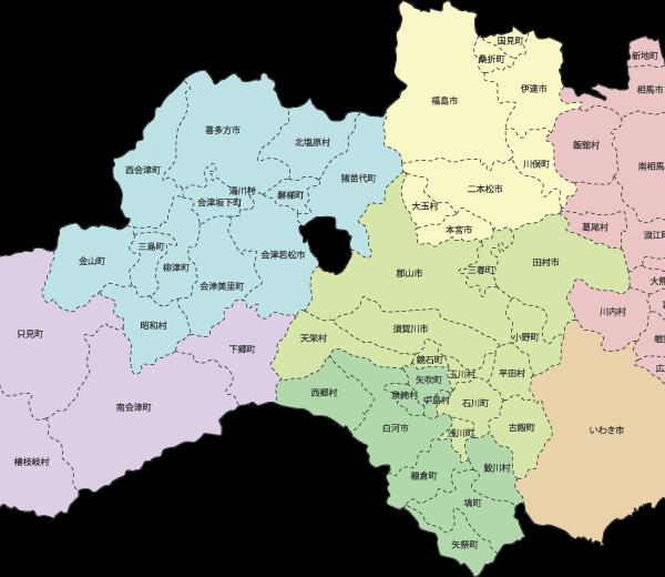 福島県MAPの画像