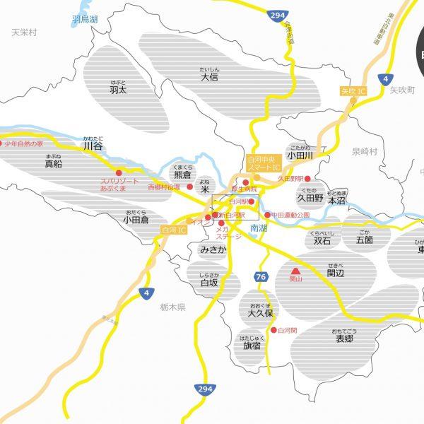 福島県南地域の方必見!地域名が一目で分かるtenten map白河・西郷版が完成しましたの画像